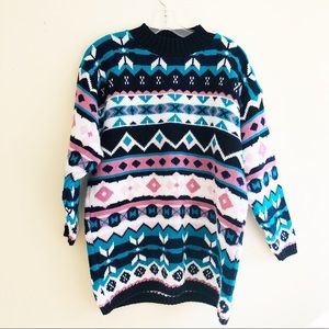 Vintage print sweater and amazing colors